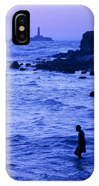 Man And Lighthouse IPhone Case