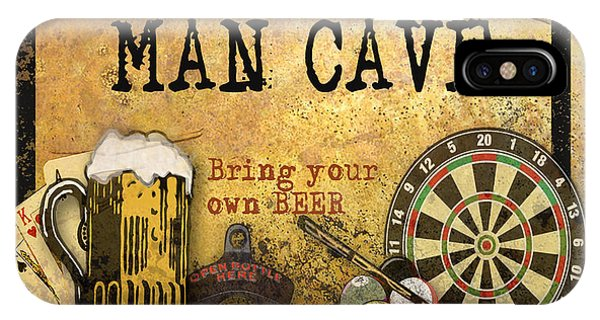 Man Cave-bring Your Own Beer IPhone Case