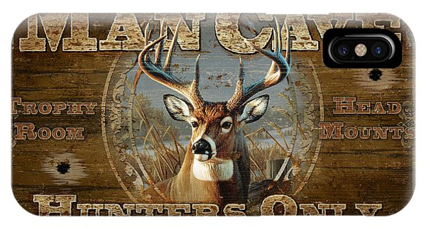 Man Cave iPhone Case - Man Cave Deer by JQ Licensing