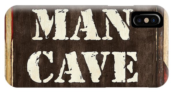 Man Cave iPhone Case - Man Cave Do Not Disturb by Debbie DeWitt