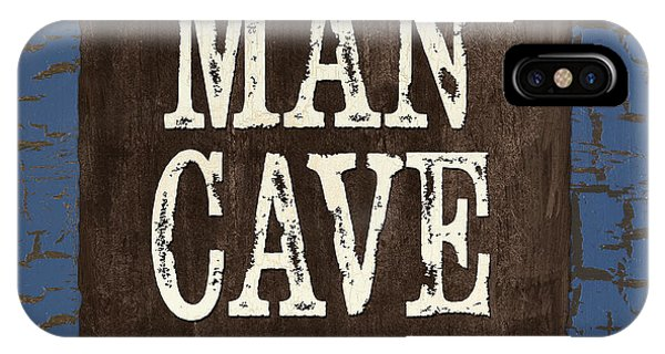 Design iPhone Case - Man Cave Enter At Your Own Risk by Debbie DeWitt