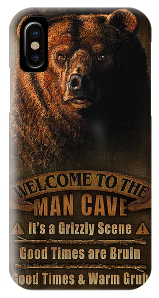 Turkey iPhone Case - Man Cave Grizzly by JQ Licensing