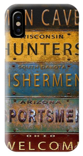 Man Cave-license Plate Art IPhone Case