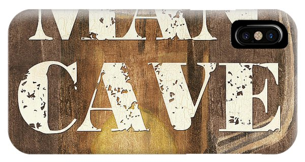 Man Cave iPhone Case - Man Cave My Cave My Rules by Debbie DeWitt