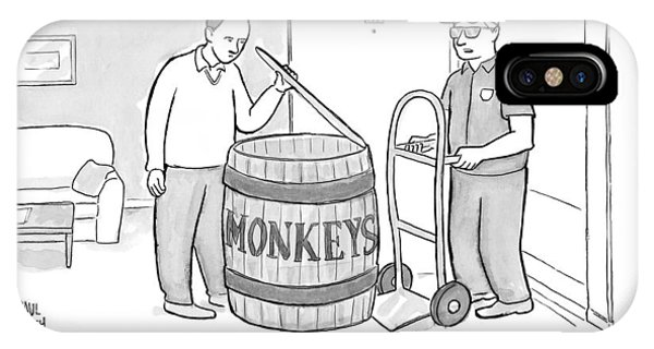 Man Delivers A Barrel Of Monkeys IPhone Case
