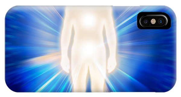 Luminous Body iPhone Case - Man Ethereal Body Energy Emanations Concept by Oleksiy Maksymenko