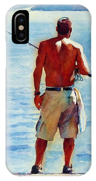 Man Fishing Phone Case by Graham Berry