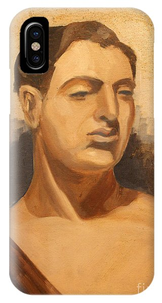 Man Holding Staff  1937 IPhone Case
