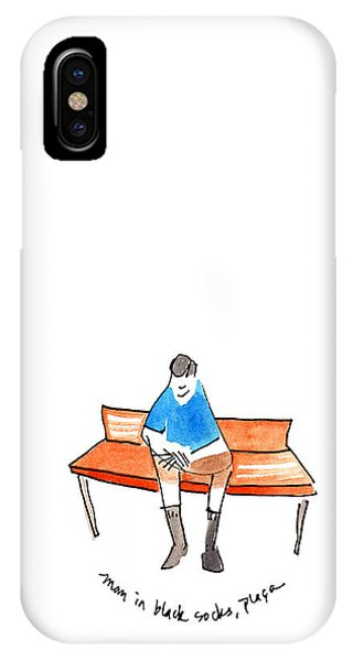 Man In Black Socks IPhone Case