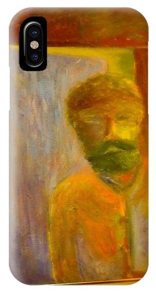 Man In Front Of The Door IPhone Case