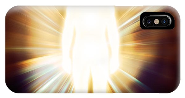 Luminous Body iPhone Case - Man Luminous Ethereal Body Qi Energy by Oleksiy Maksymenko