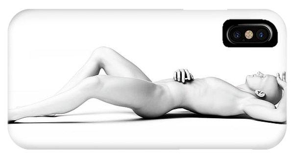Man Lying Down Phone Case by Sebastian Kaulitzki