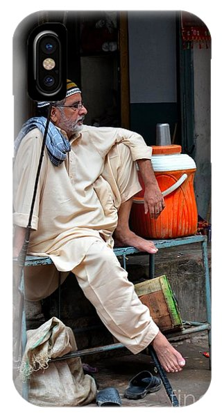 Man Sits And Relaxes In Lahore Walled City Pakistan IPhone Case