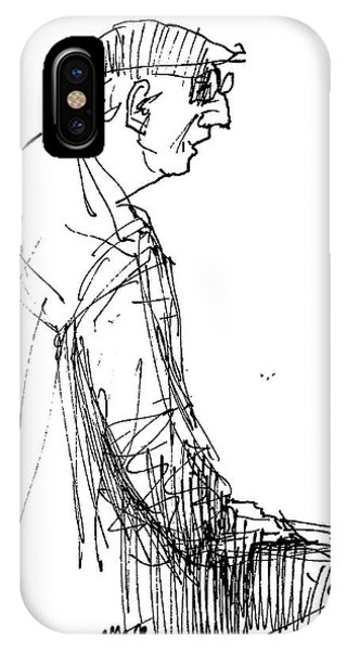 Sketch iPhone Case - Man Standing by Ylli Haruni