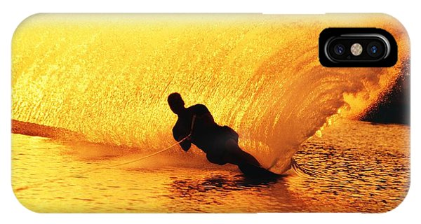 Water Ski iPhone Case - Man Waterskiing by Jason Witherspoon