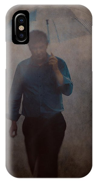 Man With An Umbrella IPhone Case