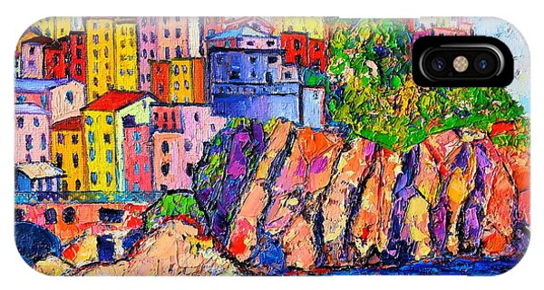Manarola Cinque Terre Italy Detail IPhone Case