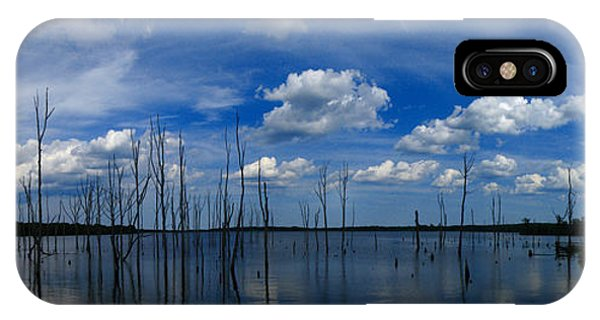 Manasquan Reservoir Panorama IPhone Case