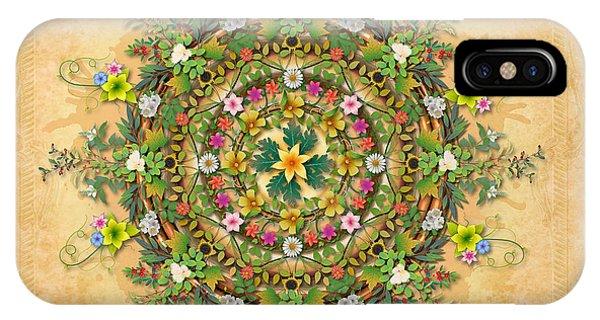 Shrub iPhone Case - Mandala Flora Sp by Peter Awax