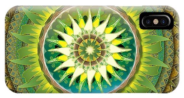 Mandala Green IPhone Case