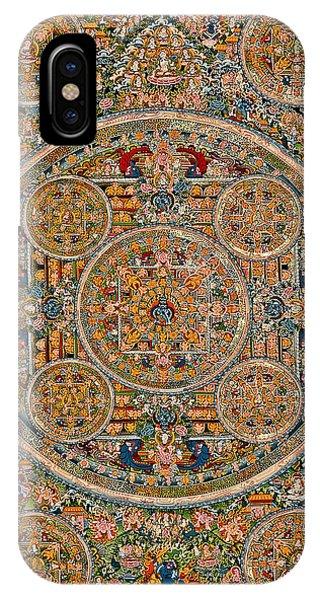 Siddharta iPhone Case - Mandala Of Heruka In Yab Yum And Buddhas by Lanjee Chee