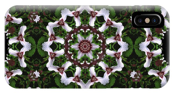 Mandala Trillium Holiday IPhone Case