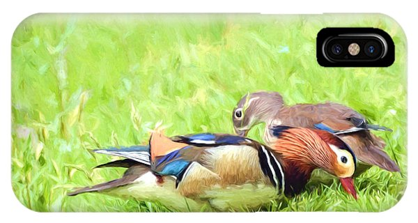 Mandarin Duck Couple IPhone Case