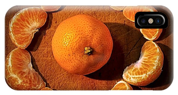 Orange iPhone Case - Mandarin - Vignette by Kaye Menner