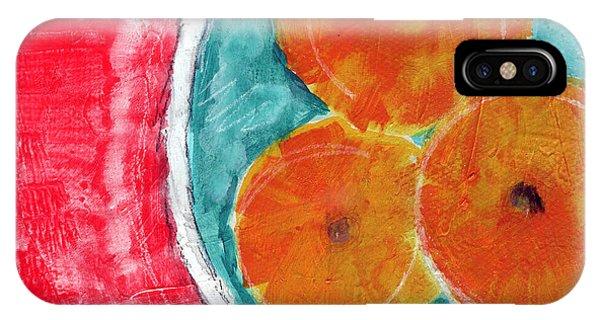 Red Fruit iPhone Case - Mandarins by Linda Woods
