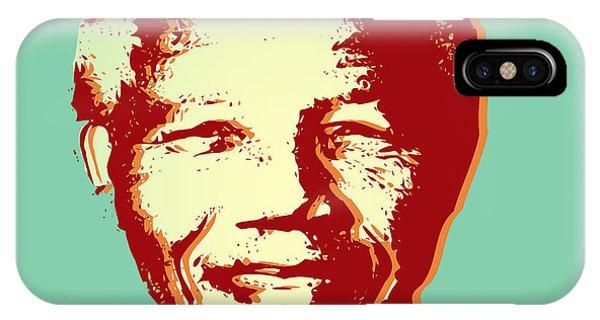 Famous People iPhone Case - Mandela by Mark Ashkenazi