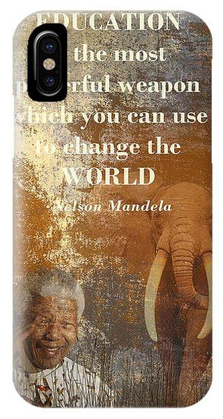 Tribute iPhone Case - Mandela by Sharon Lisa Clarke
