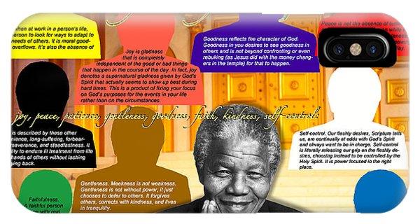 Mandela's Rainbow With Scripture IPhone Case