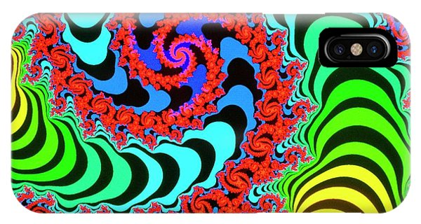 Again iPhone Case - Mandelbrot Fractal: Let's Twist Again by Gregory Sams/science Photo Library