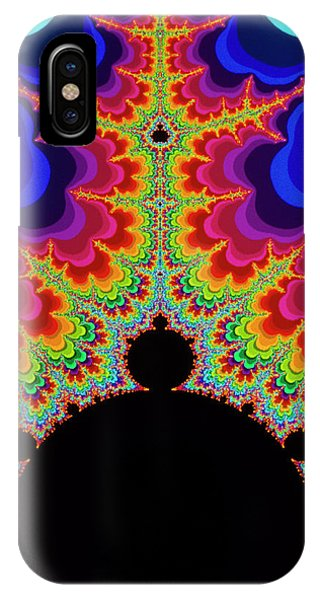 Fractal iPhone X Case - Mandelbrot Set:-beacon Force by Gregory Sams/science Photo Library