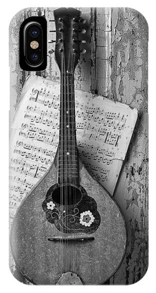 Mandolin In Black And White IPhone Case