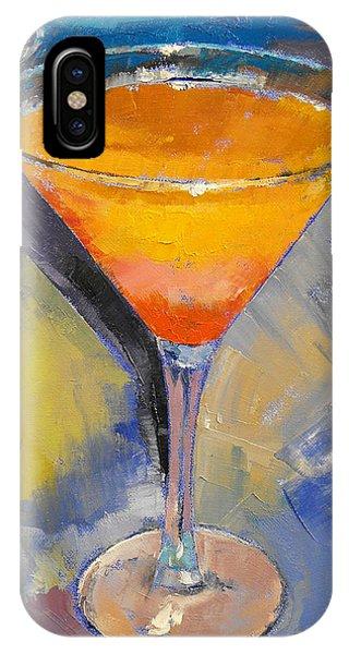 Martini iPhone Case - Mango Martini by Michael Creese