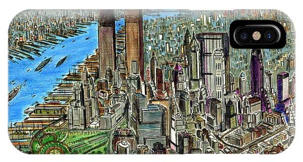 New York Downtown Manhattan 1972 IPhone Case
