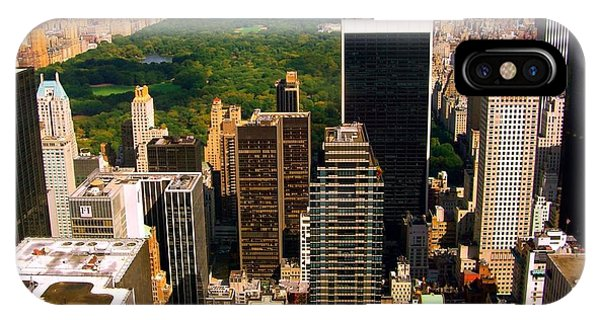 Manhattan And Central Park IPhone Case