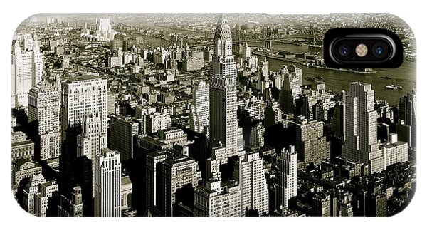 Manhattan And Chrysler Building II IPhone Case