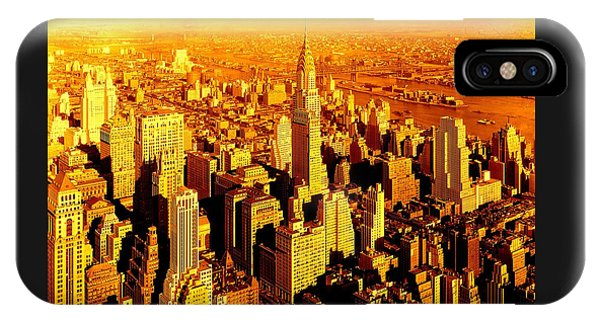 Manhattan And Chrysler Building IPhone Case