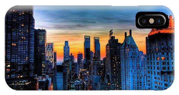 Manhattan At Sunset IPhone Case