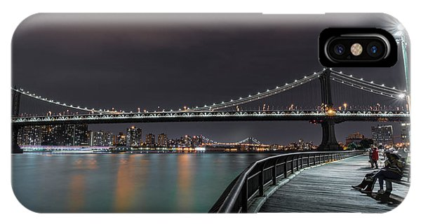 Times Square iPhone Case - Manhattan Bridge - New York - Usa 2 by Larry Marshall