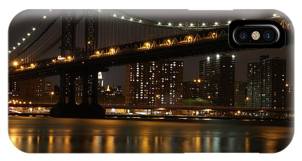Manhattan Bridge 3019-48 Phone Case by Deidre Elzer-Lento