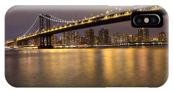 Manhattan Bridge Lights  IPhone Case