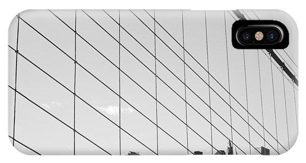 New York City iPhone Case - Manhattan From Brooklyn Bridge by Ilker Goksen