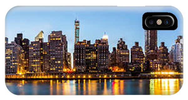 Manhattan Panorama And Queensboro Bridge IPhone Case