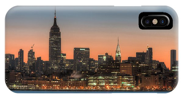 Manhattan Skyline And Pre-sunrise Sky I IPhone Case