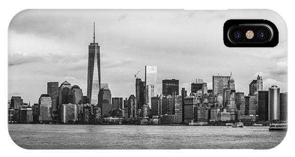 Manhattan Skyline Black And White IPhone Case