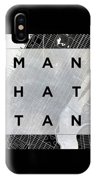 Manhattan Square Bw IPhone Case
