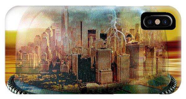 Mustard iPhone Case - Manhattan Under The Dome by Marian Voicu